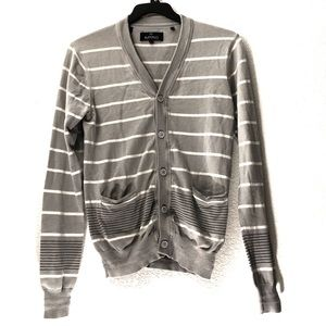 Buffalo David Bitton Striped Pocket Cardigan